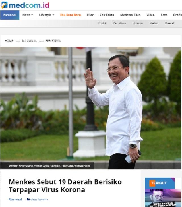 [Cek Fakta] Serangan Virus Korona Telah Masuk ke Indonesia melalui 19 Bandara di Indonesia? Ini Faktanya