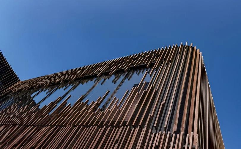 Fasad Bangunan dari Bambu Daur Ulang