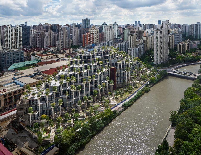 Bangunan di Shanghai Ditanami Seribu Pohon