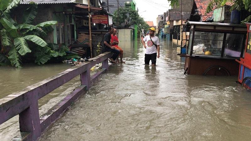 Permukiman di Kota Bekasi Terendam Banjir