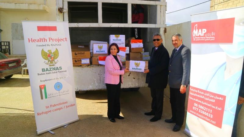 Pengungsi Palestina Terima Bantuan dari Indonesia