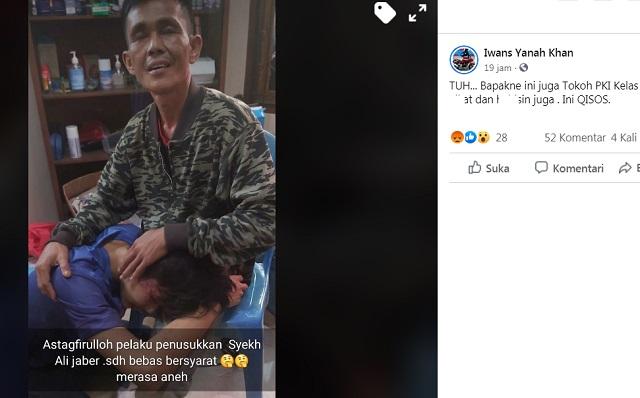 [Cek Fakta] Foto Pelaku Penusukan Syekh Ali Jaber sudah Bebas Bersyarat? Ini Faktanya