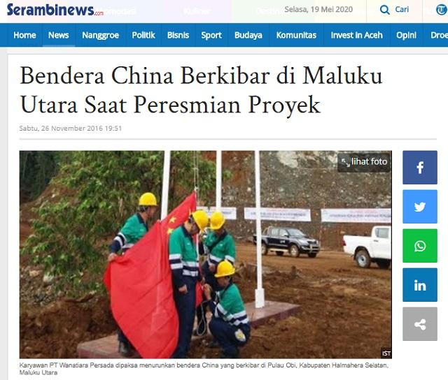 [Cek Fakta] Bendera Tiongkok Berkibar di Maluku Utara? Ini Faktanya