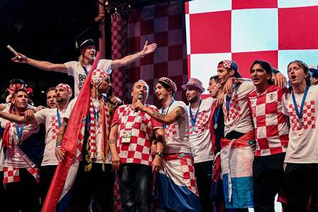 Timnas Kroasia Disambut bak Juara Dunia