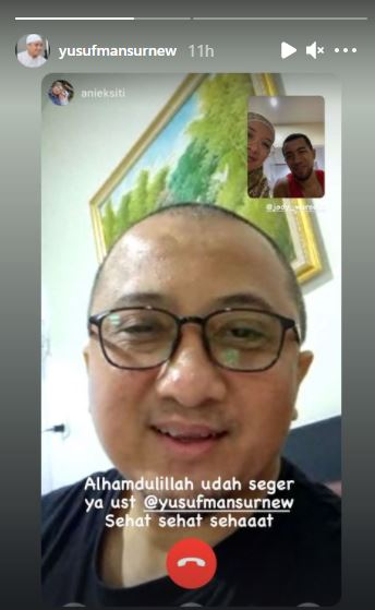 Kondisi Terkini Ustaz Yusuf Mansur: Alhamdulillah Sudah Segar!