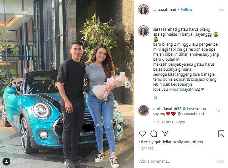 Rayakan 6 Bulan Pacaran, Bek Timnas U-19 Beri Kado Mobil Mewah untuk Kekasih