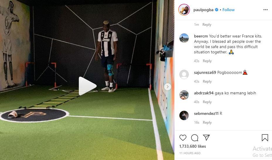 Alasan Pogba Kenakan Jersey Juventus saat Latihan