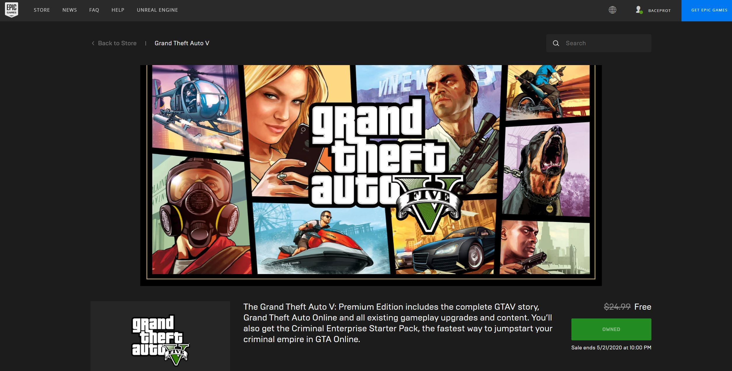 Hingga 21 Mei, Ini Cara Download GTA V Gratis di Epic Games Store