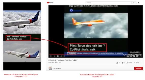 [Cek Fakta] Rekaman Suara Percakapan Pilot dan Co Pilot Sriwijaya Air SJ 182 Beredar? Ini Faktanya