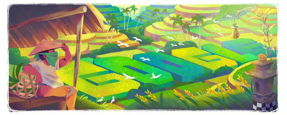 Google Doodle Pamer Subak Bali, Kenapa?