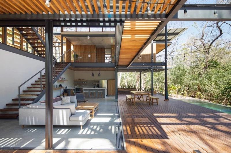 Jungle House, Hunian Sejuk dengan Teknik Prefabrikasi