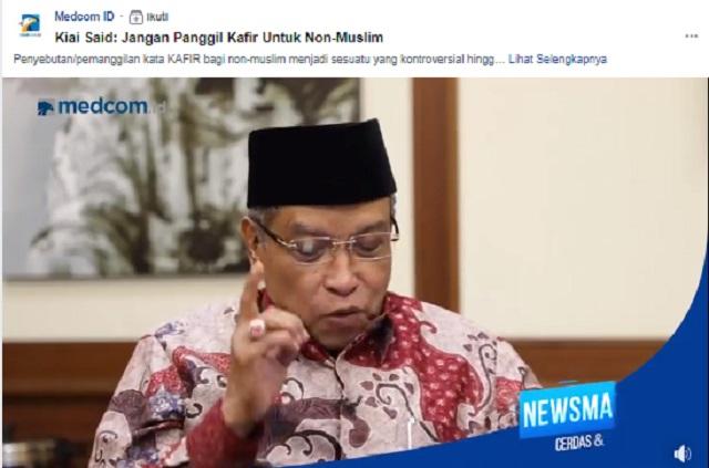 [Cek Fakta] Ketua Umum PBNU Sebut Jokowi Cucu Kandung Nabi Musa? Ini Faktanya