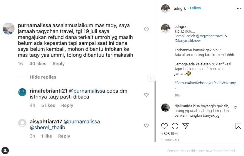 Dapat Laporan dari Netizen, Adam Deni Akan Bongkar Penggelapan Dana Umrah Milik Bisnis Travel Taqy Malik