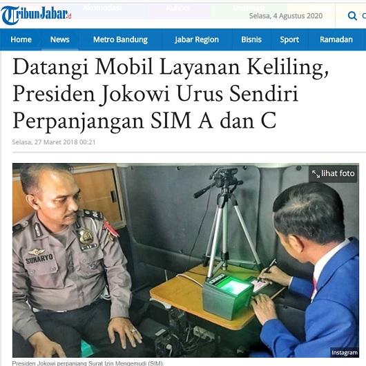 [Cek Fakta] Jokowi Mendatangi Polresta Bogor Urus Perpanjangan SIM Sendiri? Ini Faktanya