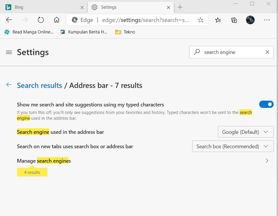 Cara Pasang Google Search di Microsoft Edge Chromium