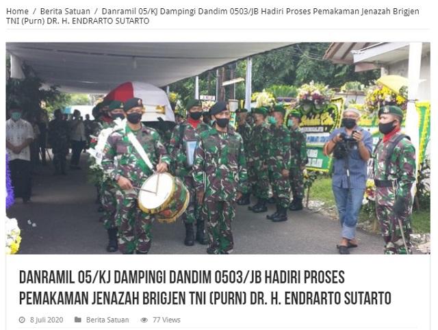 [Cek Fakta] Mantan Panglima TNI Endriartono Sutarto Meninggal Dunia, Hoaks