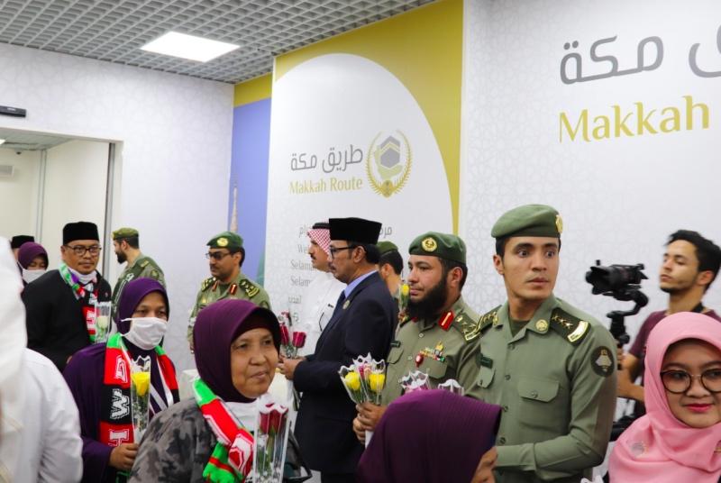 Saudi Sambut Kloter Jemaah Calon Haji <i>Fast Track</i> Indonesia