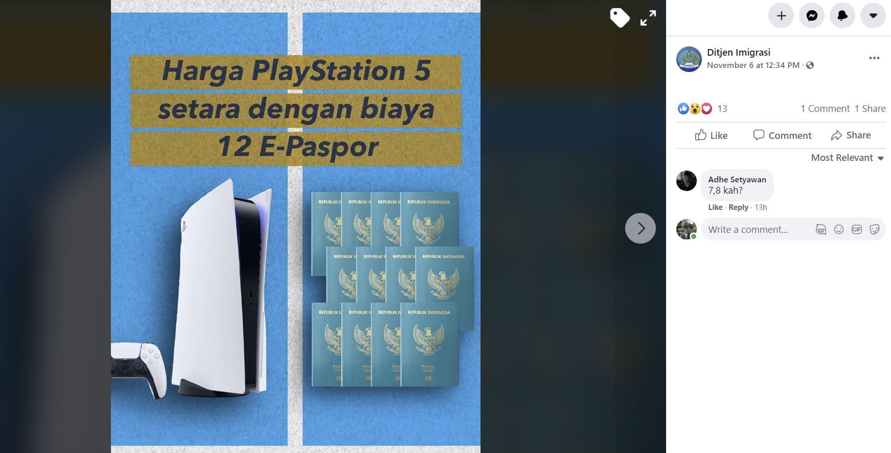 Harga PS5 di Indonesia Setara Biaya Pembuatan 12 E-Paspor