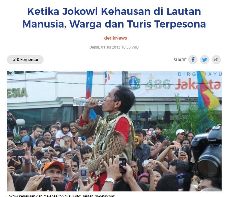 [Cek Fakta] Foto Jokowi Menenggak Miras Hoaks, Ini Faktanya