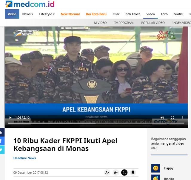 [Cek Fakta] Video Ormas FKPPI Kumpul di Monas Siap Siaga Menentang Pengesahan RUU HIP? Ini Faktanya