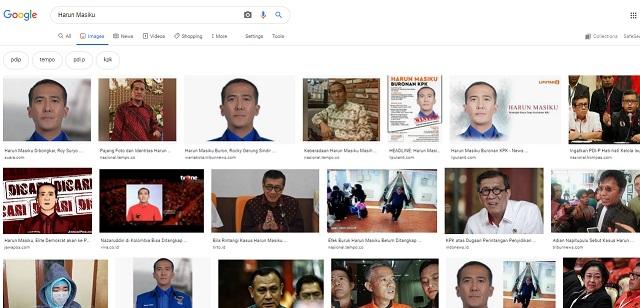 [Cek Fakta] Foto-Foto Penampakan Harun Masiku Juga Hilang dari Situs Google? Ini Faktanya