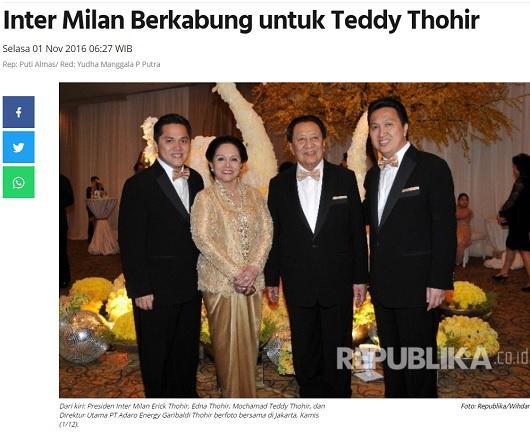 [Cek Fakta] Ibunda Erick Thohir Bernama Tan Mei Hwa Kakak Pendiri Astra? Ini Faktanya