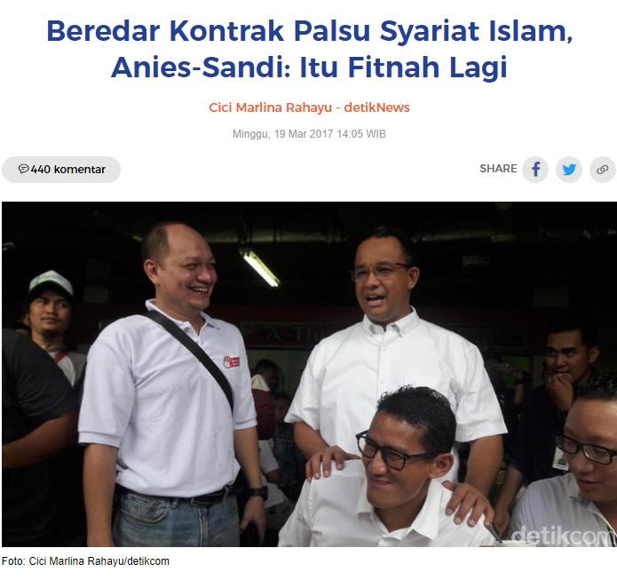 [Cek Fakta] Anies Terlibat Kontrak Politik dengan Hizbut Tahrir Indonesia (HTI)? Ini Faktanya