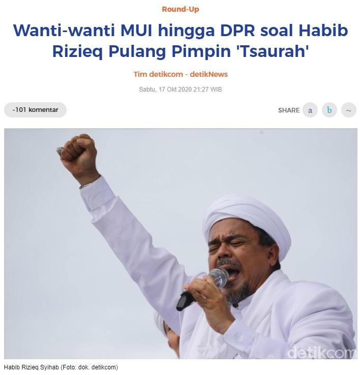 [Cek Fakta] Habib Rizieq Dikabarkan Jadi Pencuci Piring di Arab Saudi? Ini Faktanya
