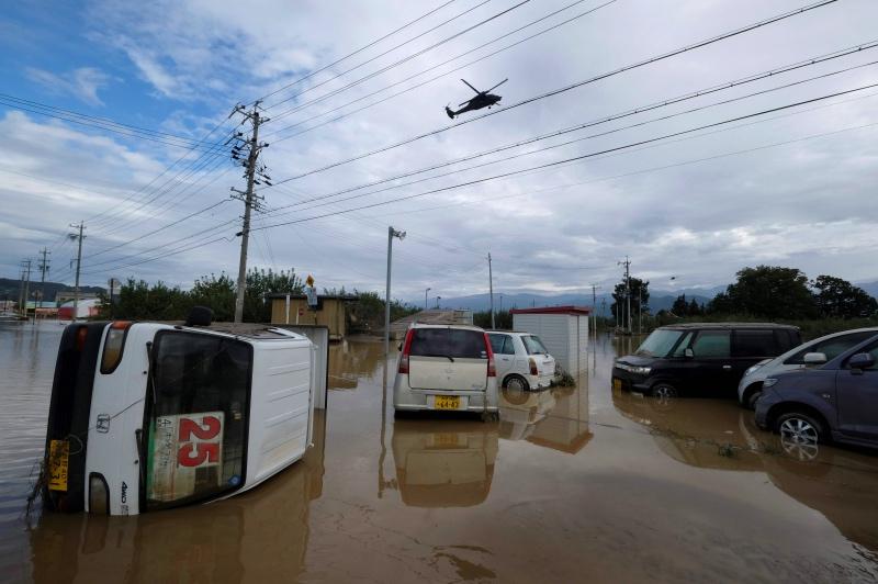 Pencarian Sporadis saat Topan Jepang Tewaskan 43 Jiwa