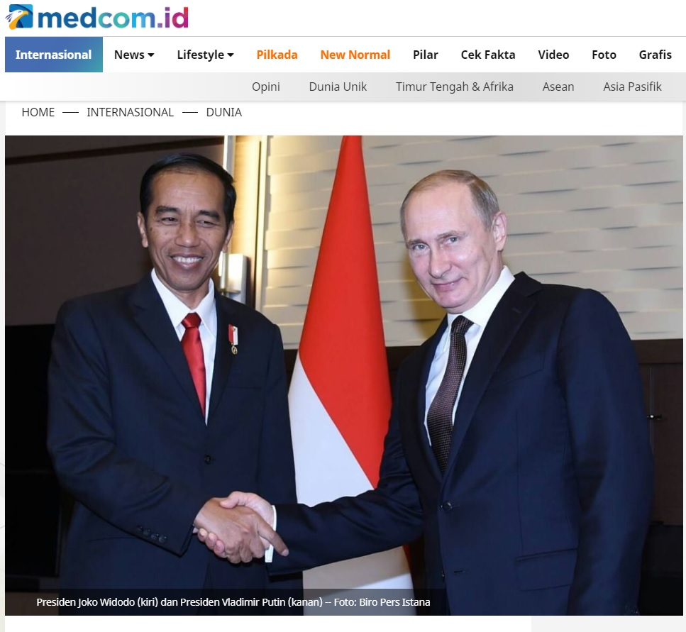 Cek Fakta Photo Of Vladimir Putin And Jokowi Discussing The Omnibus Law These Are The Facts Exbulletin