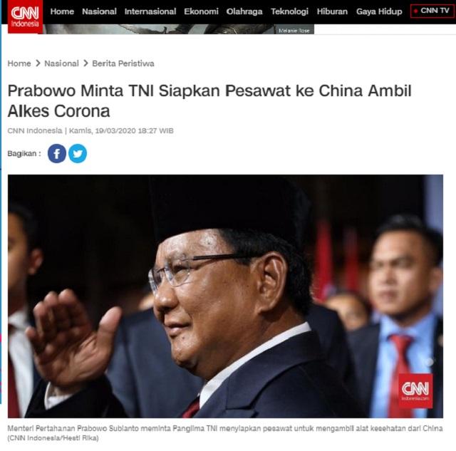 [Cek Fakta] Prabowo Hilang di Saat Negara Genting? Ini Faktanya