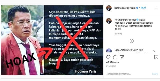 [Cek Fakta] Hotman Paris Minta Keluarga Cendana dan Cikeas Berhati-hati? Ini Faktanya