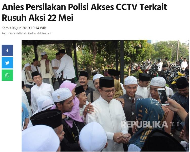 [Cek Fakta] Rekaman CCTV Jakarta <i>Smartcity</i> Deteksi Keberadaan Simpatisan PKI Saat Demo? Ini Faktanya
