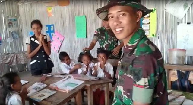 Pengabdian Tentara Suku Anak Dalam di Perbatasan