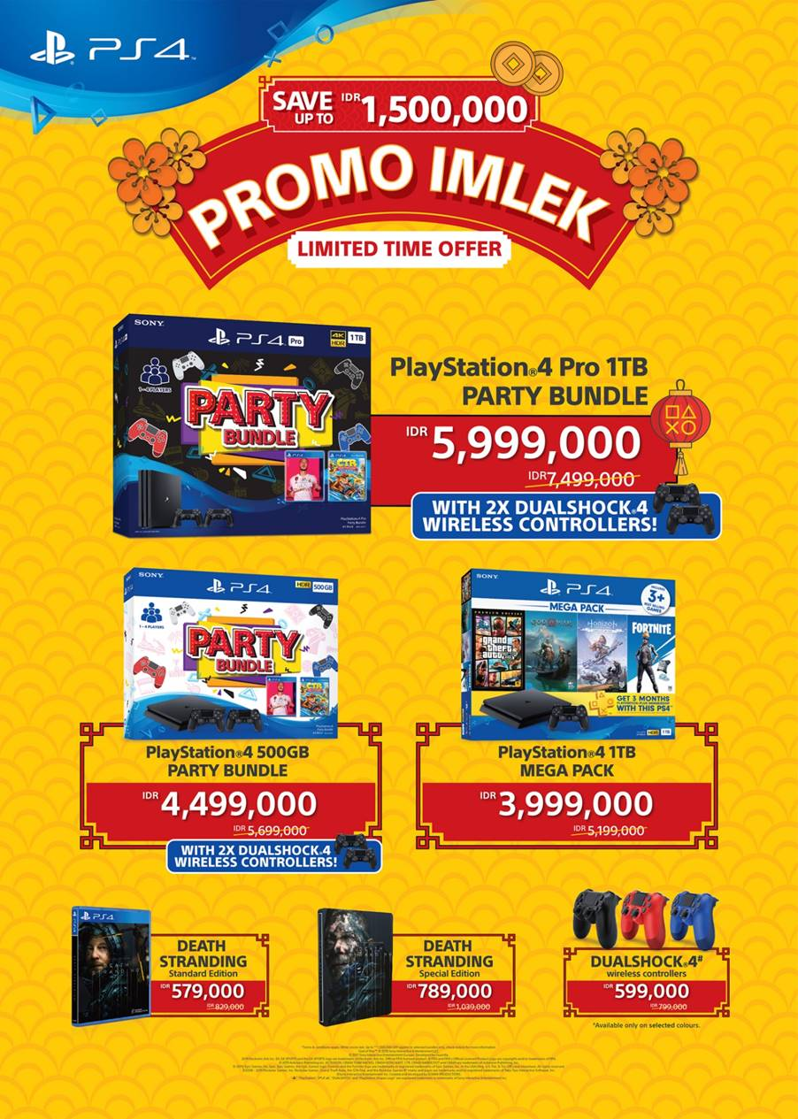 PlayStation Gelar Promo Imlek, Diskon Game dan Konsol PS4
