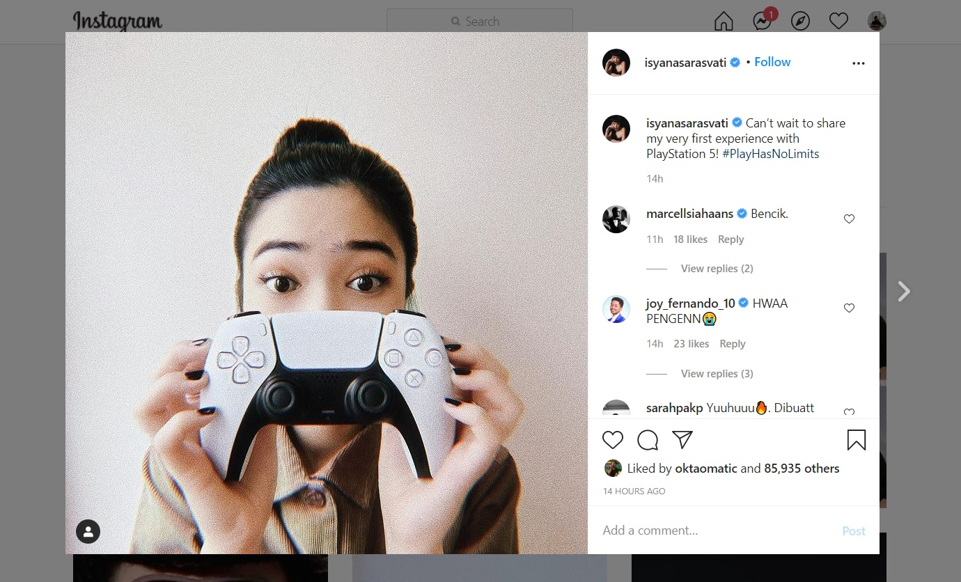 Isyana Sarasvati Pamer PS5, Bakal Main Game Apa?