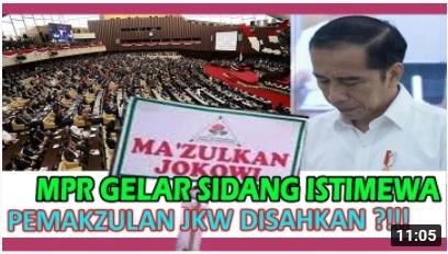 [Cek Fakta] MPR Gelar Sidang Istimewa, Pemakzulan Jokowi Disahkan? Ini Faktanya