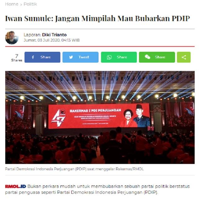 [Cek Fakta] PDIP akan Menangkap 'Kadrun'? Ini Faktanya