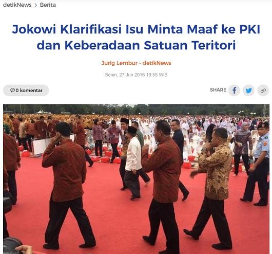 [Cek Fakta] Pemerintahan Jokowi Terbitkan Surat Korban Pelanggaran HAM Eks PKI? Simak Faktanya