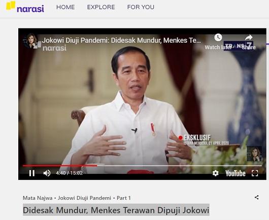 [Cek Fakta] Benarkah Jokowi Membuat Pernyataan Akan Mundur sebagai Presiden? Cek Faktanya