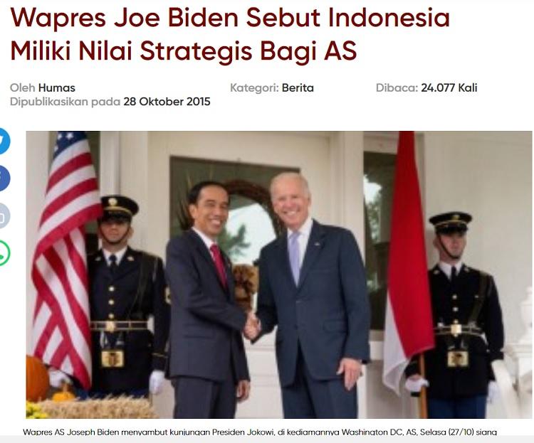 [Cek Fakta] Capres Terpilih AS Joe Biden ke Istana Bogor Bertemu Jokowi? Ini Faktanya