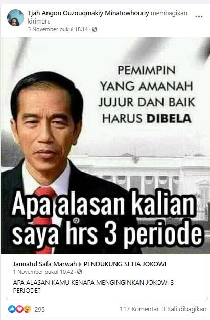 [Cek Fakta] Jokowi Tanya Alasan Harus Dipilih 3 Periode? Ini Faktanya