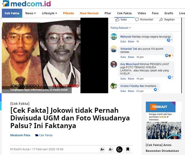 [Cek Fakta] Foto Ijazah UGM Atas Nama Jokowi Palsu? Ini Faktanya