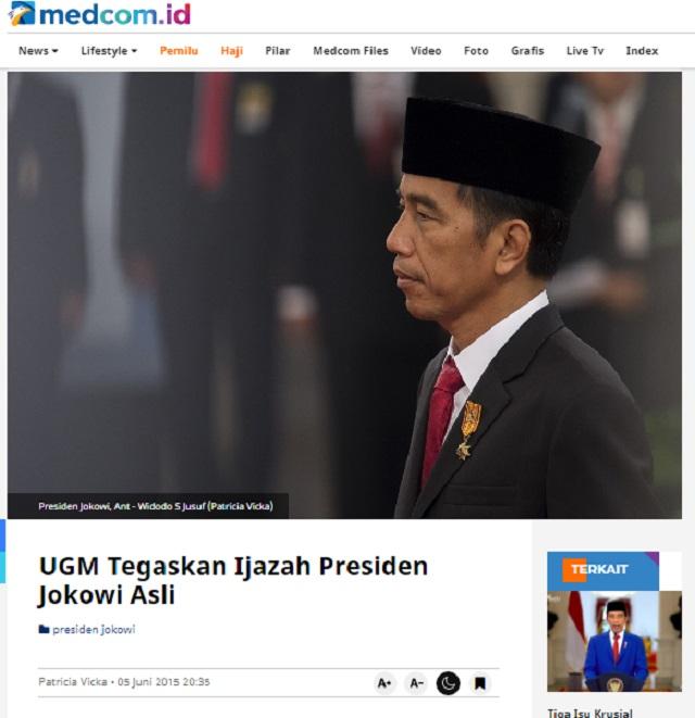 [Cek Fakta] Jokowi Mengakui Ijazahnya Palsu? Ini Faktanya