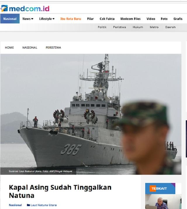 [Cek Fakta] Paska-Kunjungan Jokowi di Natuna, Kapal Ikan Asing Malah Semakin Bertambah? Ini Faktanya