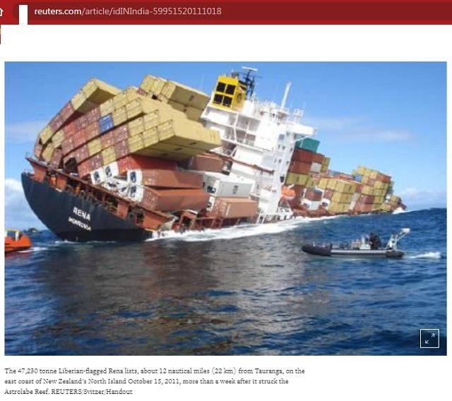[Cek Fakta] Kapal Kargo Pengangkut Kadrun Tenggelam di Laut China Selatan? Ini Faktanya