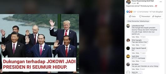 [Cek Fakta] Pemimpin Dunia Dukung Jokowi Jadi Presiden Seumur Hidup? Simak Faktanya
