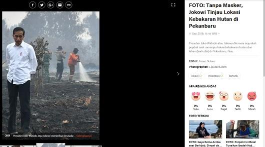[Cek Fakta] Foto Jokowi dengan Latar Belakang Tulisan