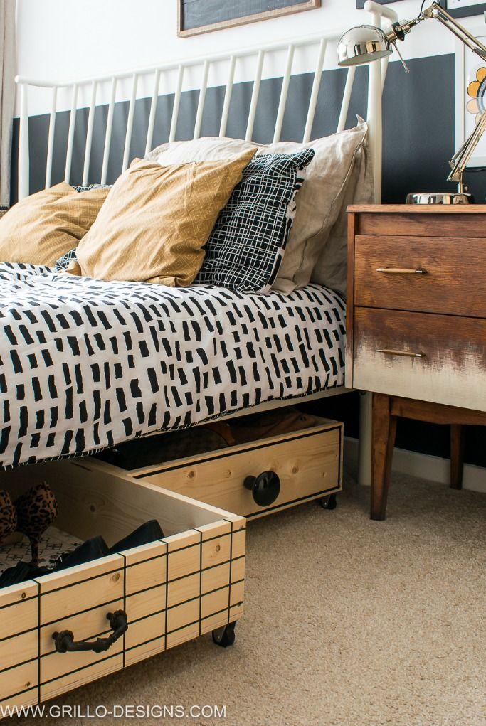 Solusi Kamar Sempit, Buat Ruang Penyimpanan di Bawah Tempat Tidur