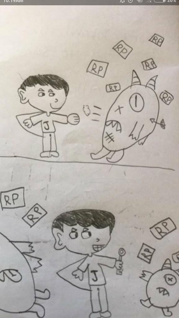 Bocah SD Persembahkan Komik untuk Ahok